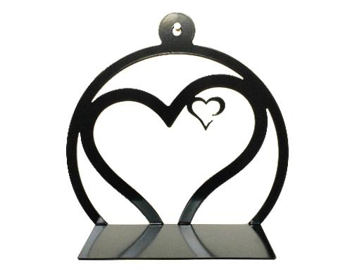 Hart in hart zwart