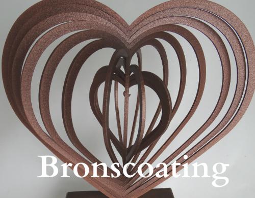 Urn 3 D hart bronscoating